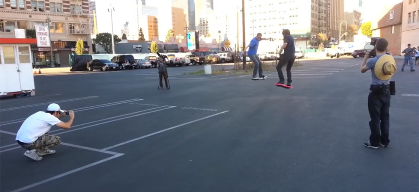 Back to the Future met de Hoverboard