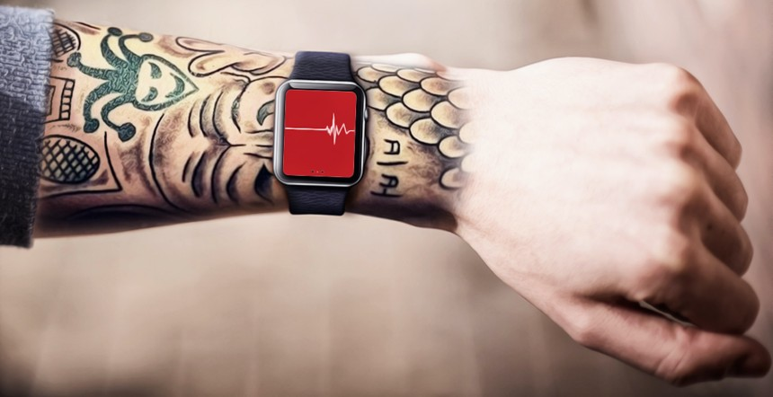 Tattoos hinderen de hartslagsensor in de Apple Watch