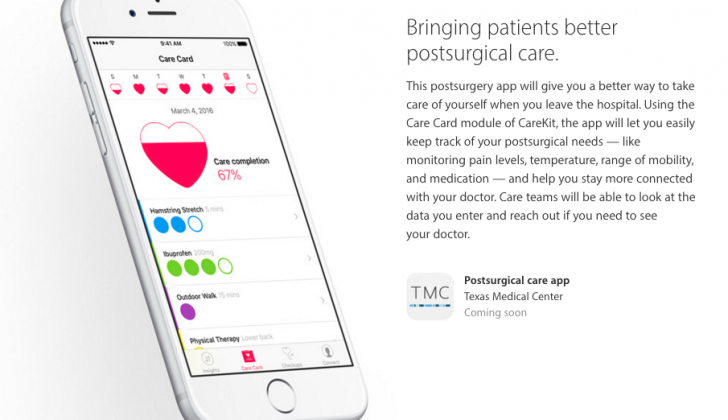 CareKit for postsurgical care